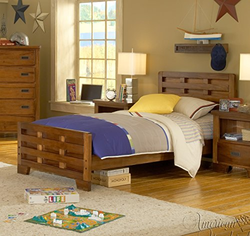 American Woodcrafters Heartland Captain's Bed, Twin (Casual Wood American Woodcrafters)