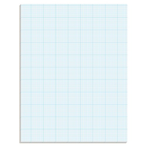 TOPS 35101 Cross Section Pads w/10 Squares, 8 1/2 x 11, White, 50 - Graph Section Cross