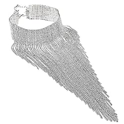 3 Colors Tassel Collar Statement Necklace