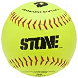 DeMarini Stone ASA Series Leather Softball (12-Pack), 12-Inch, Optic Yellow