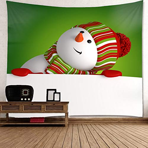 Christmas Tapestry for Home Decoration Size W80xH60 inch Wall Hanging Snowman (Wall Snowman Tapestry)