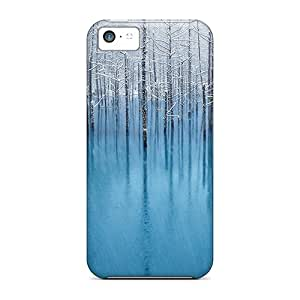 Iphone 5c Cases Covers - Slim Fit Tpu Protector Shock Absorbent Cases (snow Pond)