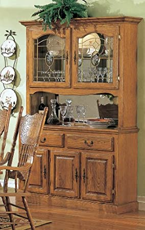 Cool Nostalgia Oak Hutch Buffet By Coaster Furniture Amazon Ca Home Interior And Landscaping Eliaenasavecom