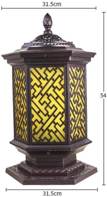 Qt Aluminum Waterproof Outdoor Pillar Lamp Front Door Fence Courtyard Column Lamp Europe Balcony Pillar Light Outside Rainproof Born Rich Column Post Garden Lamp Table Light [Energy Class A]