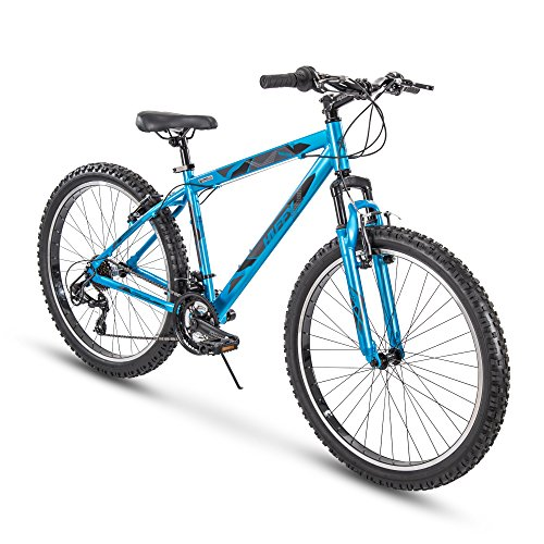 "Huffy 26"" Tekton Mens 21-Speed Hardtail Mountain Bike, Aluminum Frame, Oversized Tires, Satin Tropic Blue"
