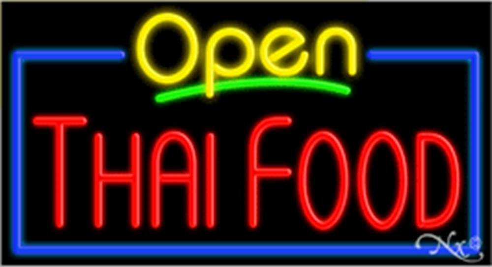 20x37x3 inches Thai Food NEON Advertising Window Sign by Light Master