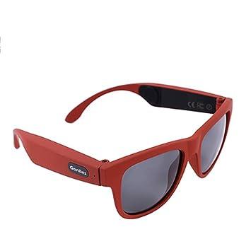 GWJ Bone Conduction Glasses, Auriculares Deportivos Gafas De Sol Polarizadas Música Estéreo Auriculares Inalámbricos Bluetooth