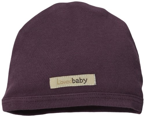 L'ovedbaby Baby Girls' Organic Cute Cap (Baby) - Eggplant - 3/6 Months -