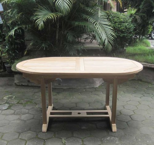 Terrassenmöbel teakholz  SAM® Garten-Tisch Aruba, Gartenmöbel aus Teak-Holz, Auszieh-Tisch ...