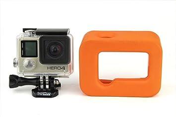 Naranja flotante Flotador marco Carcasa para GoPro Hero 4 3 ...