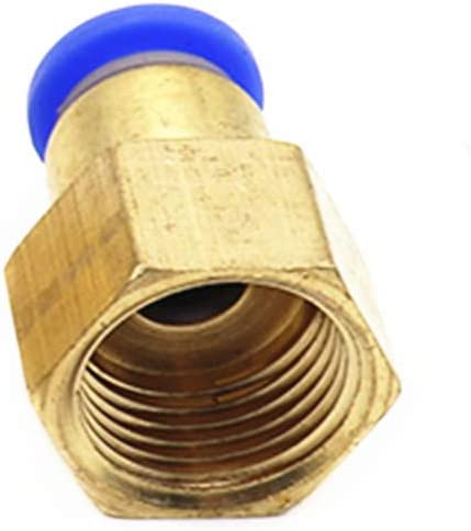 Hose Tube 4MM-12MM Pneumatic Connector 1//8 1//4 3//8 1//2BSP Female Thread Push in Fitting for Air Pipe Joint 8mm OD Hose 1//2