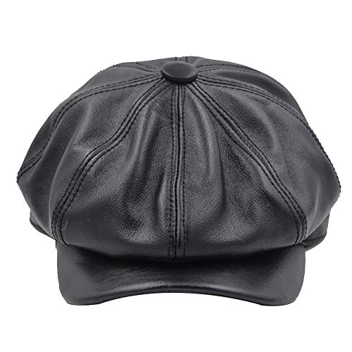 - Yosang Fashion Men's Leather Classic 8 Panel Gatsby Newsboy IVY Hat