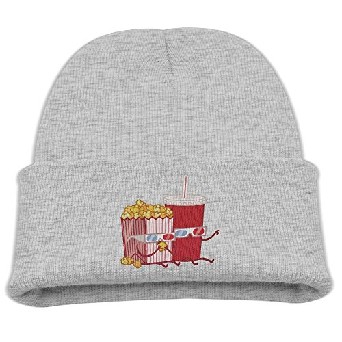 Popcorn Cable Hat - BaPaLa Children's Funny Popcorn Cola Skull Cap Beanie Soft Winter Knitted Hat