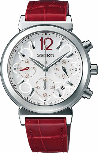 SEIKO WATCH watch LUKIA Rukia solar sapphire glass super clear coating for everyday life waterproof crocodile leather band SSVS017 Ladies