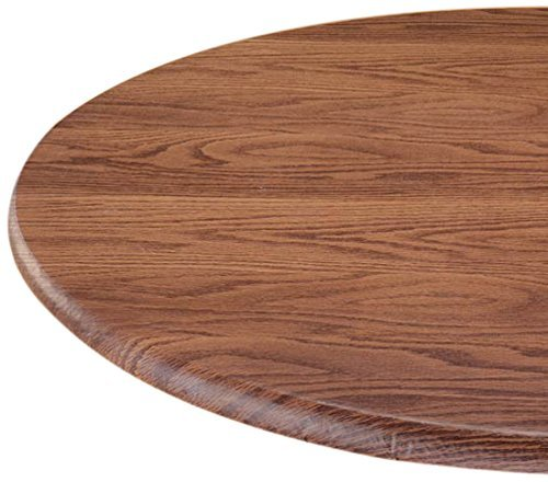 LAMINET Woodgrain Elastic Oblong Table Cover, Oval Fits Up to 48