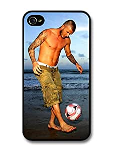 David Beckham Beach Playing Football Player For Samsung Galaxy S5 Mini Case Cover