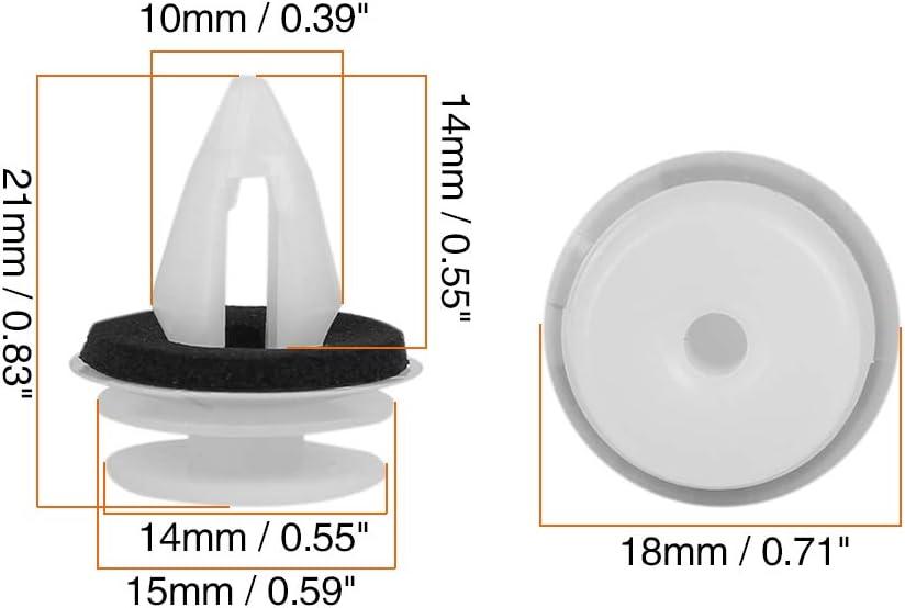 X AUTOHAUX 20pcs Plastic White Retainer Clips for BMW E46 E90 F30 X5 X3 E60 51418224768
