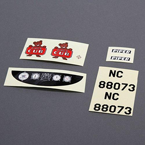 E-flite Decals: J-3 Cub 450, EFL301011