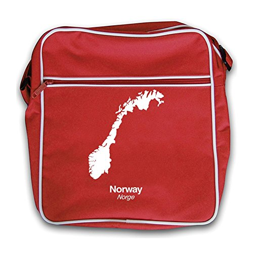 Bag Flight Norway Red Silhouette Retro Silhouette Norway Red IFXw4w