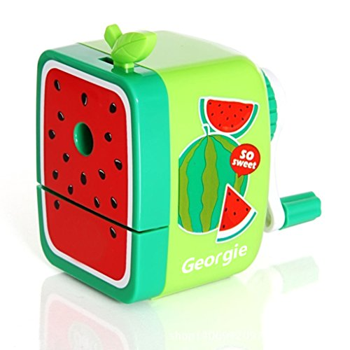 (Portable Fruit Series Pencil Sharpener Portable Sharpen Pencil Knife Tool School Things Watermelon)