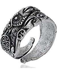 Odin's Ravens Ring Huginn and Muninn Ring Viking ring Odin Pagan Ring Women Men