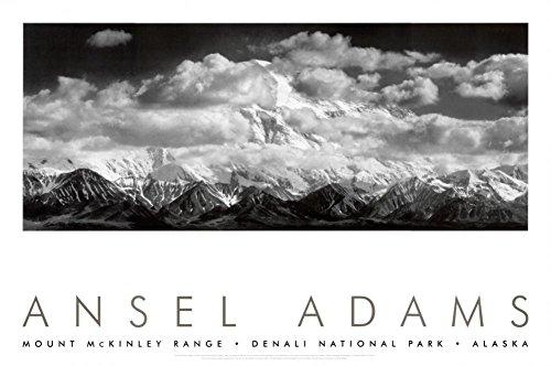 Mt. McKinley Range, Clouds, Denali National Park, Alaska, 1948 Art Print by Ansel Adams 36 x - National Park Clouds Range Denali