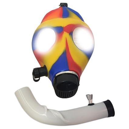 Gas Mask Bong [colores: negro, rosa, brilla en la oscuridad, amarillo