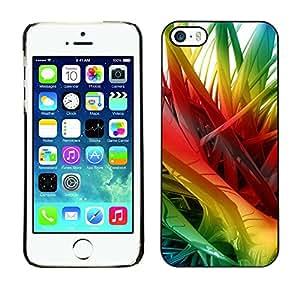 TopCaseStore / la caja del caucho duro de la cubierta de protección de la piel - Rainbow 3D Art Spikes Hair - Apple iPhone 5 / 5S