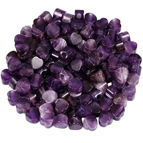 - SUNYIK Amethyst Heart Shape Large Hole Loose European Bead fits Charm Bracelet Jewelry Makings,14x14mm, Pack of 15
