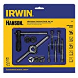IRWIN Tools Machine Screw with Fractional Tap and Die Set, 12-Piece (24605)
