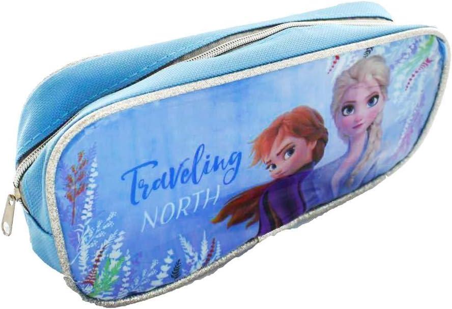 Disney Frozen - Estuche con 2 cremalleras: Amazon.es: Oficina y papelería