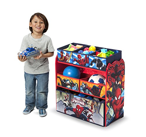 Delta Children Multi-Bin Toy Organizer, Marvel Spider-Man