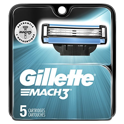 Gillette Mach3 Men's Razor Blade Refills, 5 Count, Mens R...