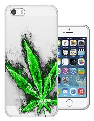 C0081 - Marijuana Cannabis Leaf Rasta Style Design iphone SE - 2016 Fashion Trend Silikon Hülle Schutzhülle Schutzcase Gel Rubber Silicone Hülle