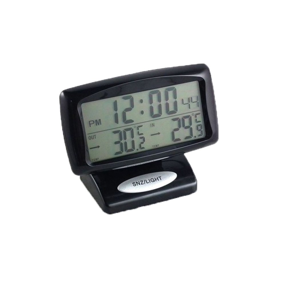 Boladge Automotive Elektronische Uhr LED Inside /& Outside Temperatur Fahrzeug Thermometer Uhr