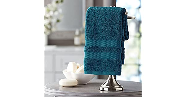 Amazon.com: Members Mark Hotel Premier Collection 100% Cotton Luxury Hand Towel, Peacock: Home & Kitchen