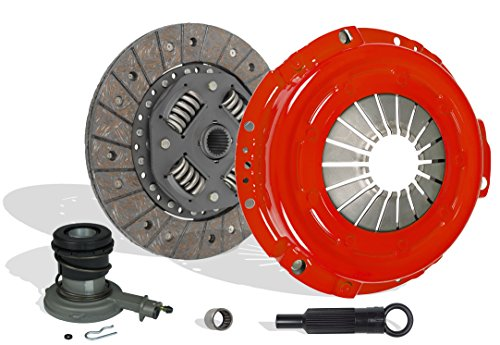 Clutch With Slave Kit Works With Ford Ranger Bronco II Base XL XLT Eddie Custom S STX 1985-1987 2.0L 2.3L L4 GAS SOHC 2.8L 2.9L V6 GAS OHV Naturally Aspirated 2.3L L4 DIESEL OHV Turbocharged (Stage 1)