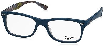 ad2b5889c80 Amazon.com  Ray-Ban RX5228 Eyeglasses-5407 Blue Camo-50mm  Shoes