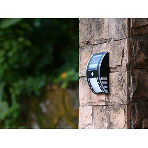 White 3 LED Solar Power PIR Motion Sensor Wall Light Outdoor Garden Fence - At Shops Chino Hills