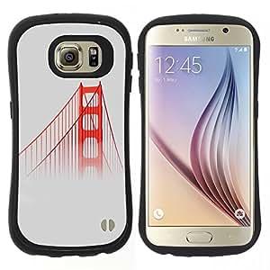 "Pulsar iFace Series Tpu silicona Carcasa Funda Case para Samsung Galaxy S6 , San Francisco Puente Rojo Usa Mist Naturaleza Niebla"""
