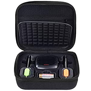 PAIYULE Hard case Compatible for Tenergy/NutriChef Solis Digital Meat Thermometer, Also fit Soraken GM-001 Digital Meat Thermometer Wireless Bluetooth Smart BBQ Thermometer(Black)