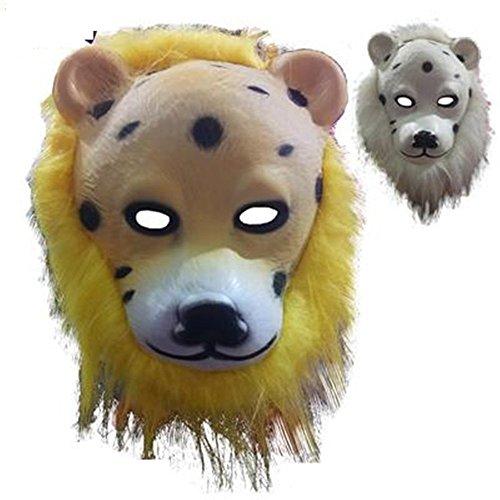 Mardi Gras Party Masquerade Mask,Animal mask Lion Wolf Orangutan Monkey Leopard Child Toy Leopard Prom Masks ()