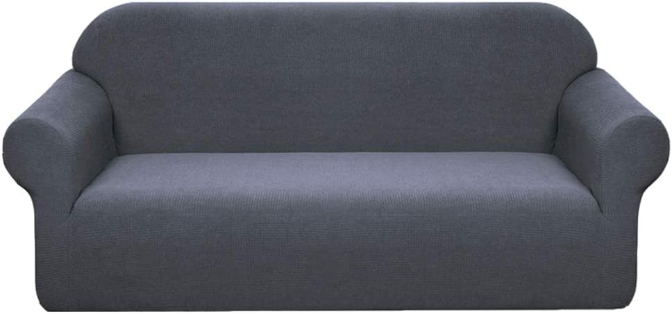 GE&YOBBY Stretch Sofa Covers Couch Covers for Cushion Couch Sofa Slipcovers for Living Room Furniture Covers for Sofa with Elastic Bottom,Checked Jacquard Thick A 180-230cm