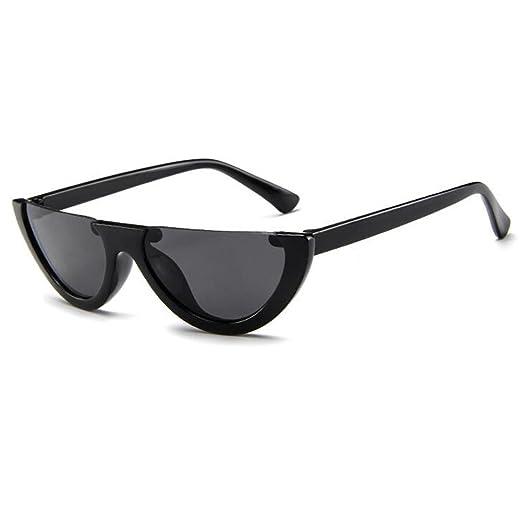 4c83cb7b63 Inlefen Mod Style Cat Eye Sunglasses Vintage Retro Half Frame Design ...