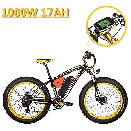 eBike_RICHBIT 022 Bicicleta eléctrica Fat Tire neumático Bicicleta eléctrica Cruiser Bicicleta eBike Ciclismo 1000W 48V Potente motor 17AH LG Cell Lithium ...
