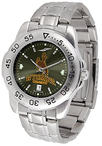 Linkswalker Mens Wyoming Cowboys Sport Steel Anochrome Watch
