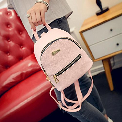 Rucksack Handbag Pink Leather Rucksack Shoulder Fashion Daypack Travel Fashion Backpack LILICAT New Mini Bag Lady Women Casual Pu School Girl Bag wfvCSqT