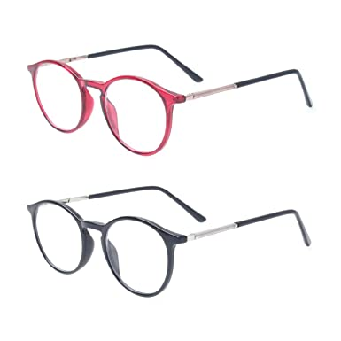 bc13cd06f6e Reading Glasses Men Women Round Classic Shape TR90 Material Readers with  Quality Metal Spring Hinge Arms