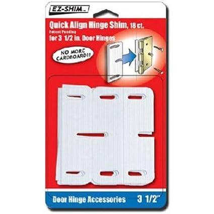 White 18 Pack E-Z Shim EZ HS350BP 3.5 Hinge Shim