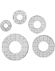 5PCS Circles Templates Quilting Frames,DIY Sewing Tools Kit,Non-Slip Sewing Rulers,Transparent Meander Quilting Template,Free Motion Quilting Grip Template Rulers,for Domestic Sewing Machine Ruler